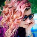 farbowane włosy